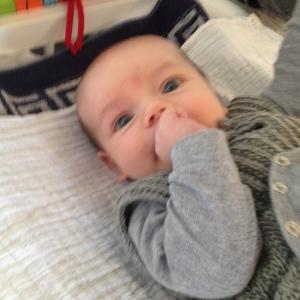Normal hovedstilling 7 ugers baby