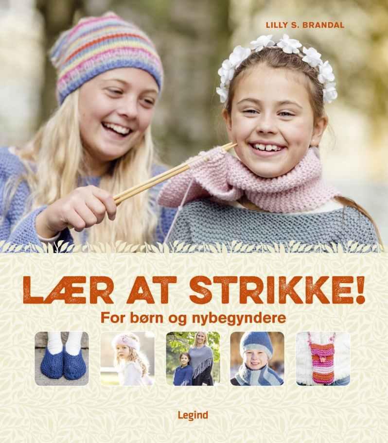 Foto fra Føtex bog om at lære at strikke
